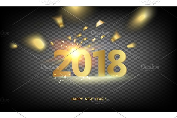 2018 New Year background.