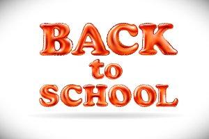 Back To School ballon letter vector