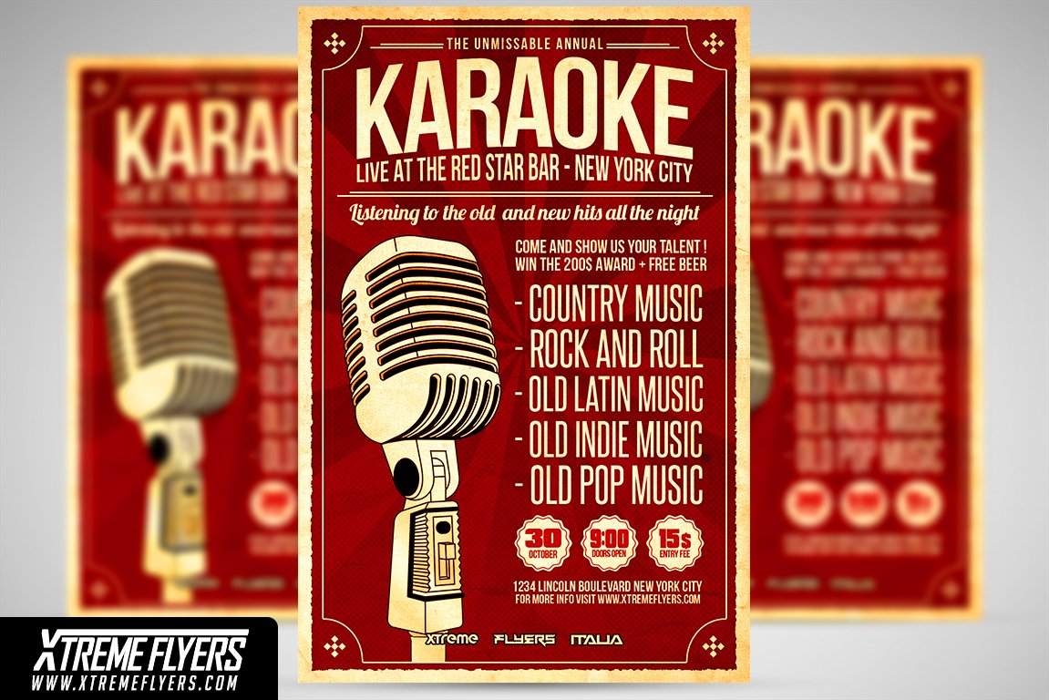 Karaoke Flyer Template Flyer Templates Creative Market