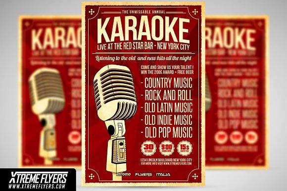 Karaoke Flyer Template Free Choice Image Template Design Free Download