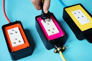 Colorful electric outlet
