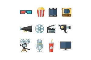 movie flat icons