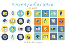 64 Information Security vector icons