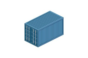 Transport container isometric vector