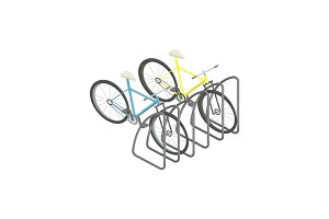 Bicycle parking isometric vector illustration