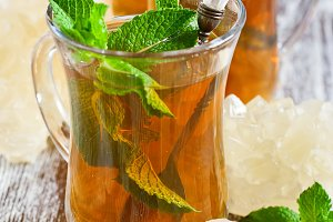 Turkish tea with mint