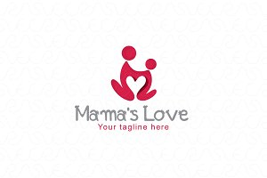 Mama's Care - Human Icon Logo