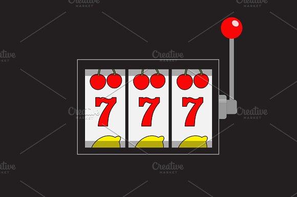 Slot machine. 777 Jackpot.