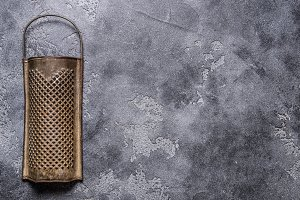 Antique rustic grater