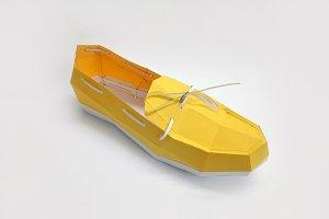 DIY Loafer Shoe - 3d papercrafts