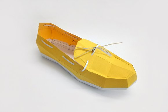 DIY Loafer Shoe 3D Papercrafts