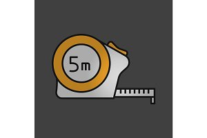 Measuring tape color icon
