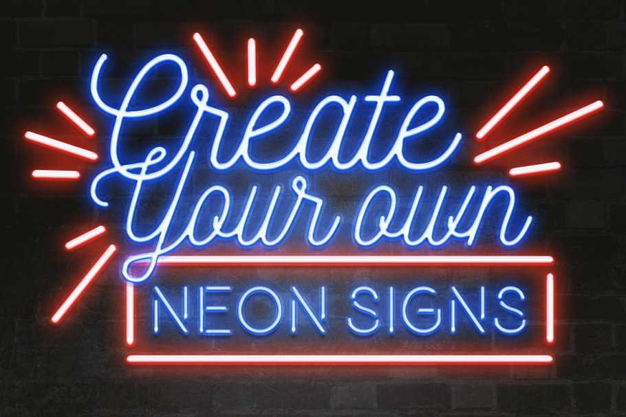 f7e297b5b Neon layer styles for Photoshop ~ Photoshop Add-Ons ~ Creative Market