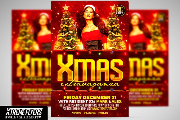 Xmas Flyer Template Flyer Templates Creative Market