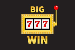 Big win Slot machine 777 Jackpot.