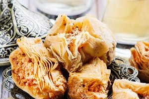 Traditional arabic sweet dessert Baklava