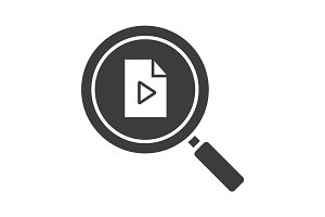 Media file search glyph icon
