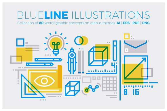 Blueline Illustrations Collection