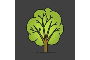 Tree color icon