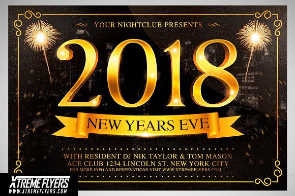 new years eve flyer template flyer templates creative market