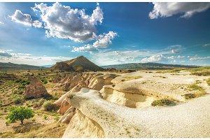 Beautiful landscape in Cappadocia