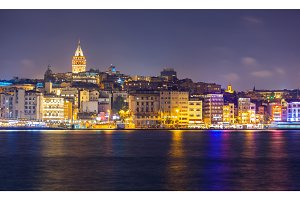 Istanbul cityscape at night