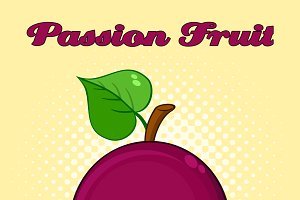 Passion Fruit With Heart Leaf
