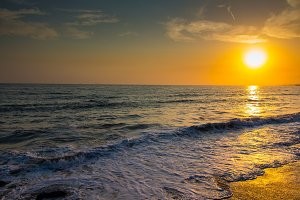 Sunset, Beach and Ocean