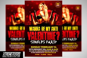 Anti Valentines Flyer Template