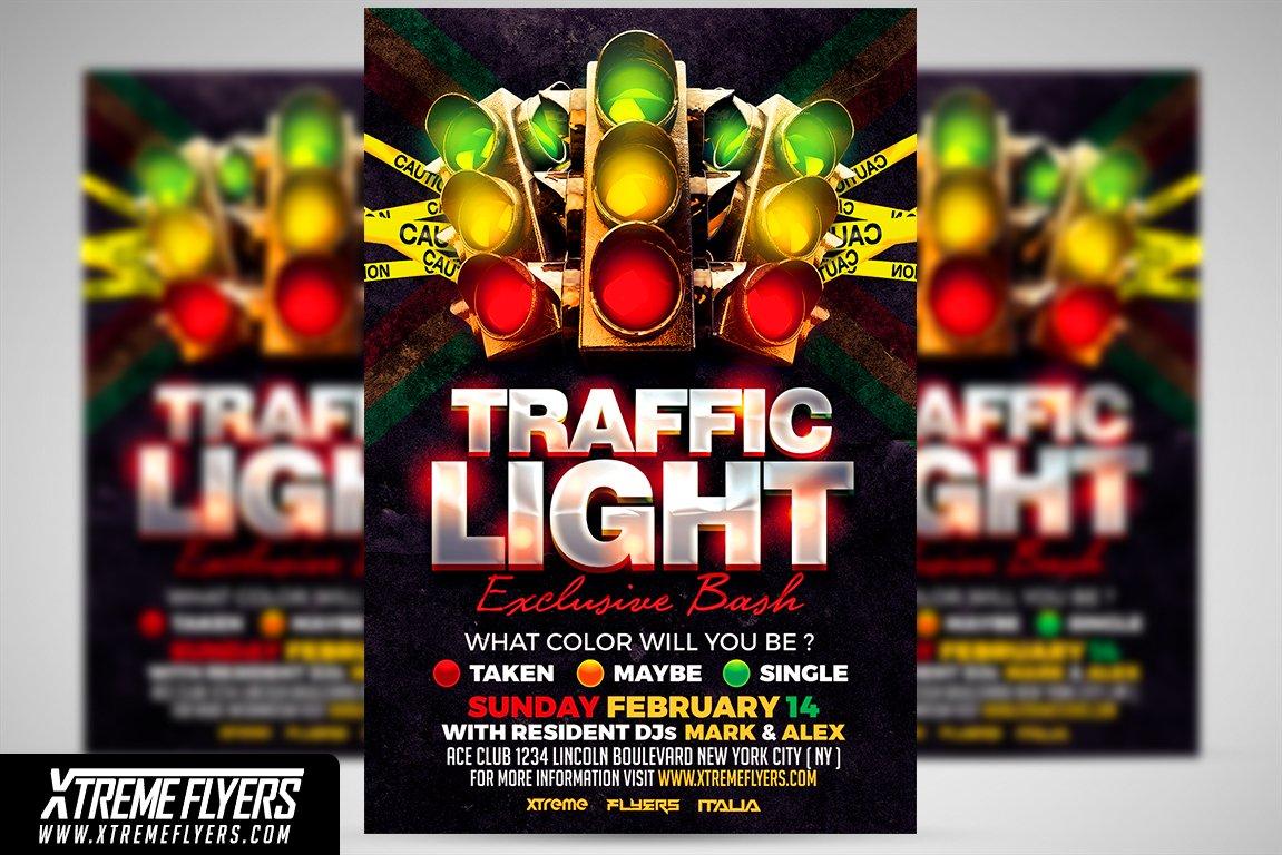 traffic light flyer template flyer templates creative market