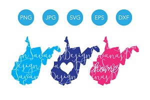 West Virginia SVG Cut Files Clipart
