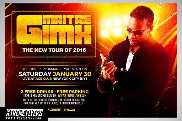 DJ Tour Flyer Template