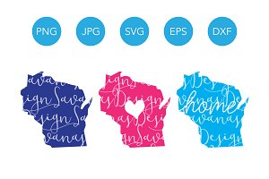 Wisconsin SVG Cut Files and Clipart