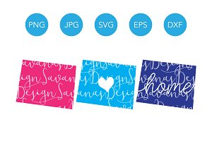 Wyoming SVG Cut Files and Clipart