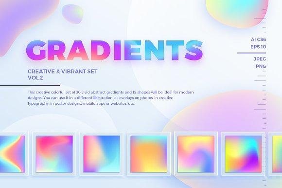 Creative & Vibrant Gradients. Vol.2