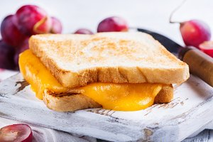 Homemade grilled cheese sandwich