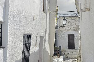 Street of Capileira in La Alpujarra, Granada, Spain