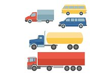Truck flat icons