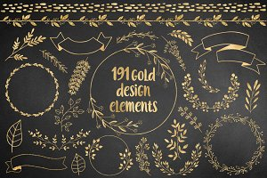 191 Gold Design Elements