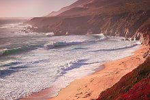 California coastal scene featuring coast, nature, and ocean