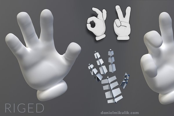 3D Fantasy: Daniel Mikulik - Cartoon Hand Riged