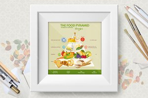 Diet food. Food pyramid