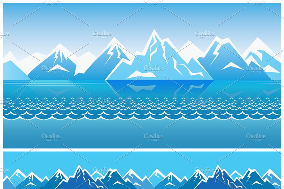 Northern Landscape pack in Illustrations - product preview 8