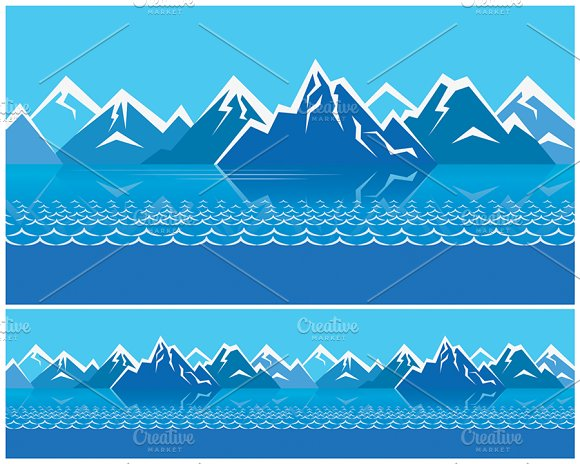 Northern Landscape pack in Illustrations - product preview 1
