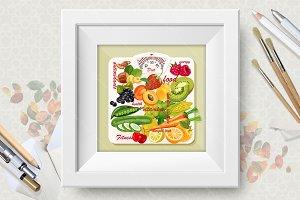 Diet food. Vitamins and minerals