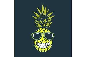 Smiling funny pineapple