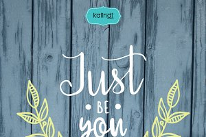 Just be you quote svg