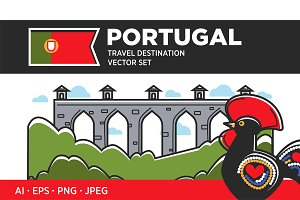 Portugal travel destination set