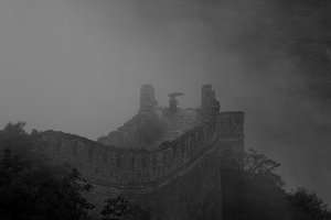B&W Fog at the Great Wall
