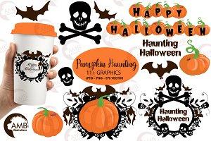 Halloween haunting clipart AMB-996